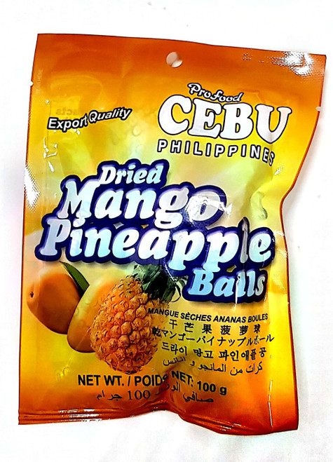 Dried Mango Pineapple Balls 100g