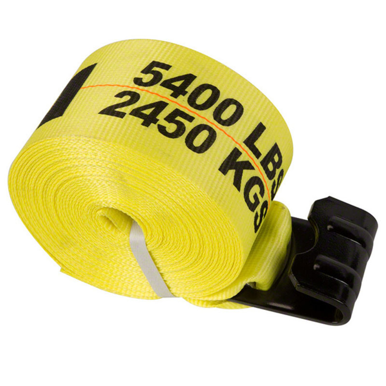 ANCRA / 43795-10 / Winch Strap with Flat Hook / 30-Feet