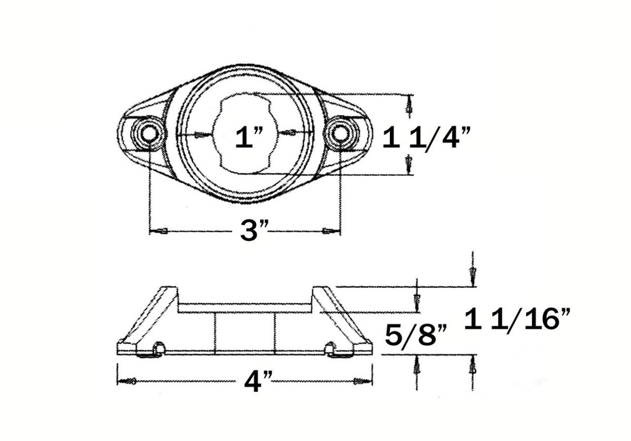 "OPTRONICS / Cam-on mounting bracket for 2"" & 2.5"" lights  / BK5557GB"