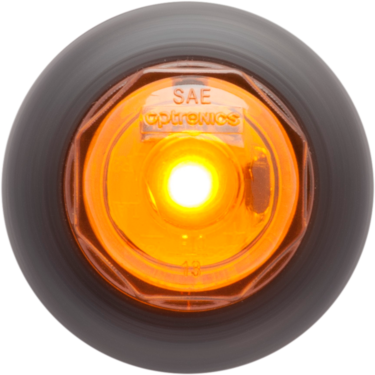 """OPTRONICS / Yellow 3/4"""" LED non-directional marker/clearance light with A11GB grommet  / MCL10AKB"""