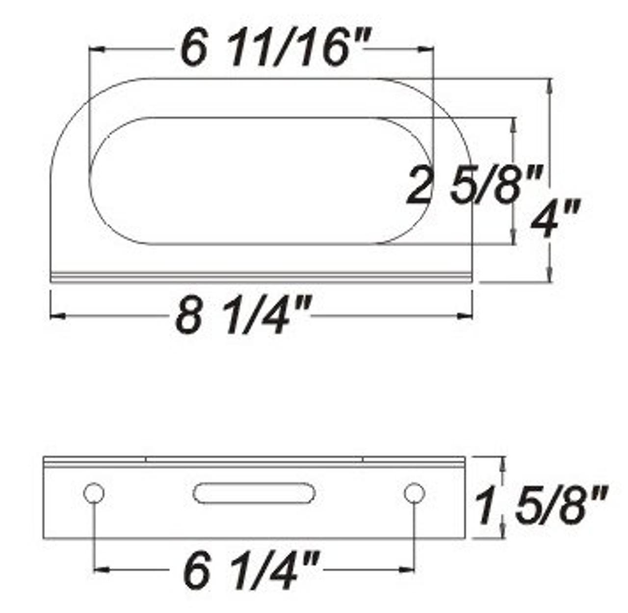 "OPTRONICS / Steel mounting bracket for 6"" lights, powder coated, black / BK70BB"
