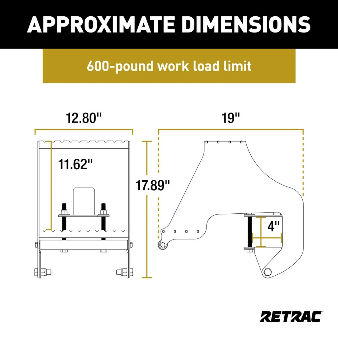 RETRAC / RET 409924 / The HighRise™ Folding Rear Entry Step Assist