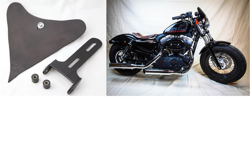 Sportster Hinge Kit for an on the frame mount by Rich Phillips Leather, MADE IN USA