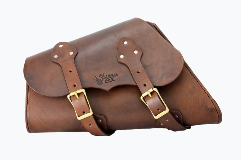Brown leather Sportster Saddle Bag