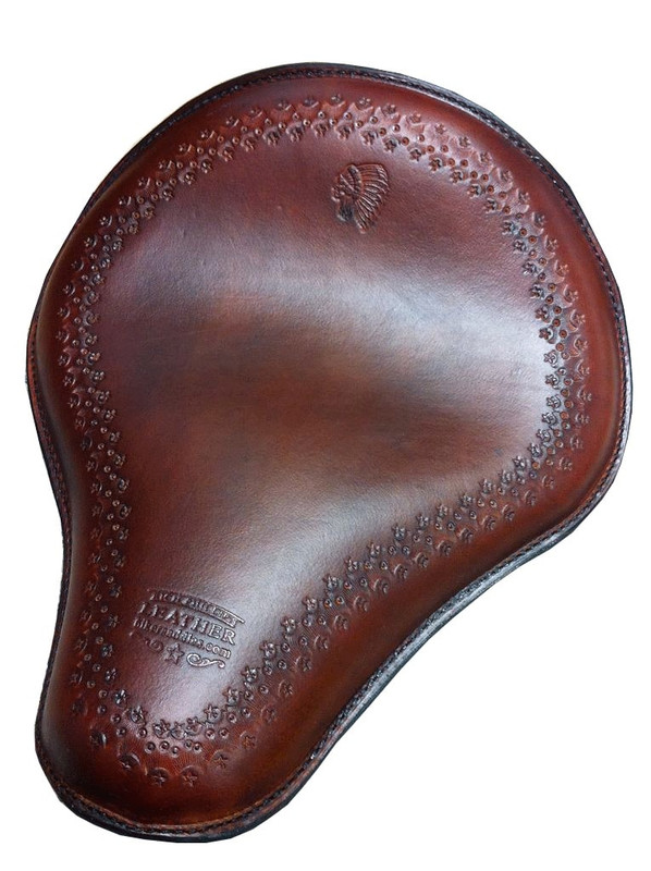 Hand Tooled Western Seat shown with brown leather