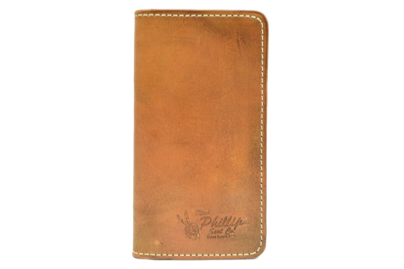 Rich Phillips Leather Daniel Boone Bi Fold Wallet