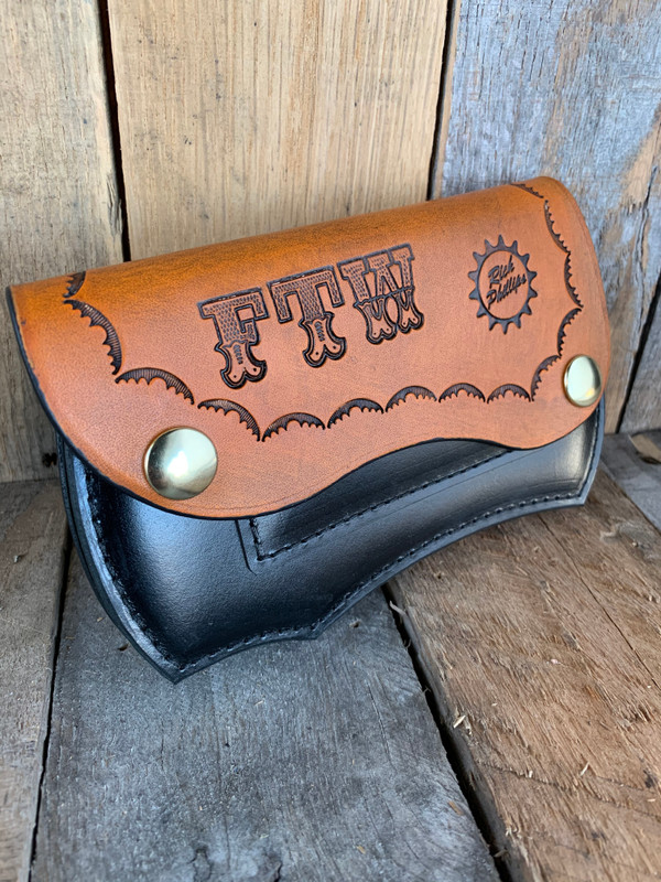 FTW Leather Wallet with Brass Snaps