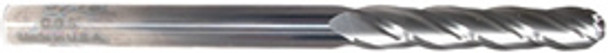 4 flute solid carbide ball end mills are ideal for rough and finish milling in a large range of materials. These end mills can be used in slotting, profile, plunge and side wall milling. Designed with an industry standard 30° degree helix and precision cutting edges these end mills will perform above the competition.