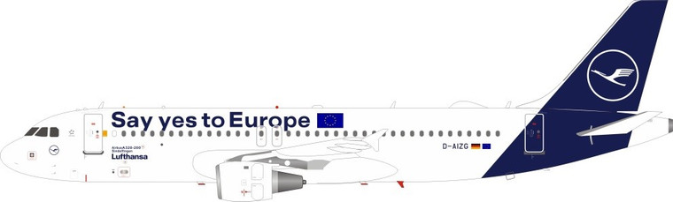 Lufthansa Airbus A320-214 D-AIZG (Say yes to Europe) JF-A320-031 1:200