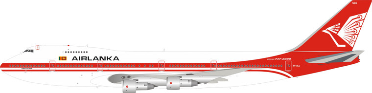Inflight200 AirLanka Boeing 747-200 4R-ULG With Stand IF742AL002 1:200