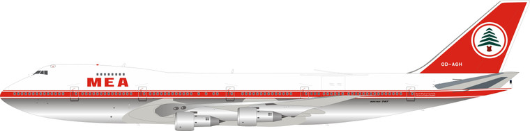Inflight200 Middle East Airlines – MEA Boeing 747-200 OD-AGH IF742ME1219P 1:200