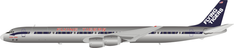 Inflight200 Flying Tigers DC-8-73CF N773FT Polished IF873FT0220P 1:200
