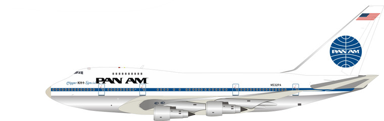 Inflight200 Pan Am Boeing 747SP-21 N532PA Polished IF747SPPA0420P 1:200