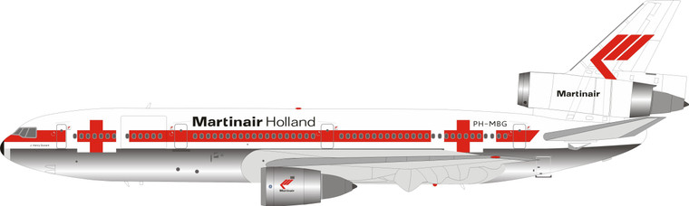 Inflight200 Martinair Holland McDonnell Douglas DC-10-30CF PH-MBG Polished IFDC10MP0620P 1:200
