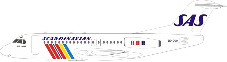 Inflight200 Scandinavian Airlines - SAS Fokker F-28-4000 Fellowship SE-DGO IFF28SK0720 1:200