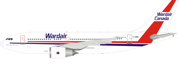 Inflight200 C-GIWD Wardair Canada Airbus A310-304 IF310WD0720 1:200