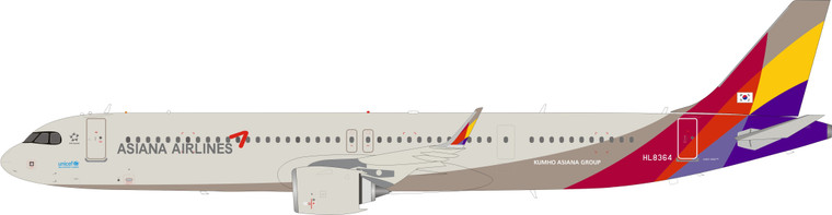 Asiana Airlines Airbus A321-251NX HL8364 IF321OZ0920 1:200