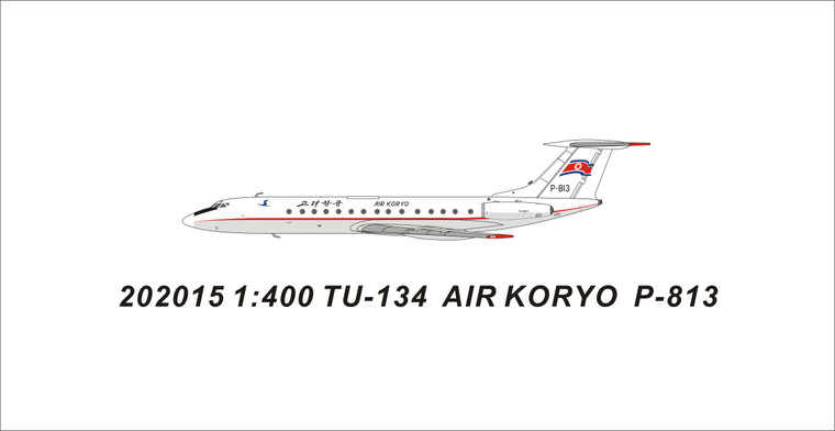 Panda Models Air Koryo Tu-134B-3 P-813 202015 1:400