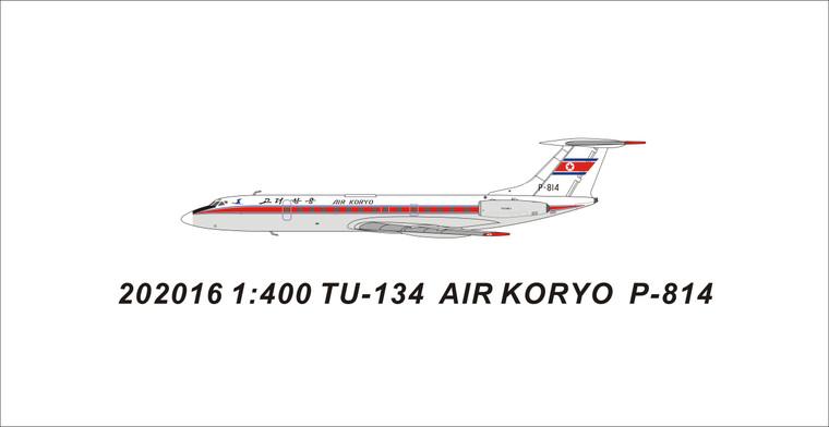 Panda Models Air Koryo Tu-134B-3 P-814 202016 1:400