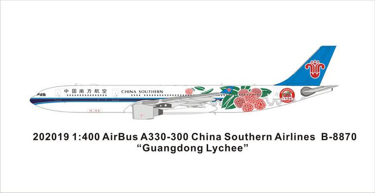 Panda Models China Southern Airlines A330-300 B-8870 202019 1:400
