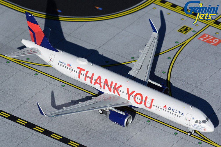 "Gemini Jets Delta A321 ""Thank You"" GJDAL1927 1:400"