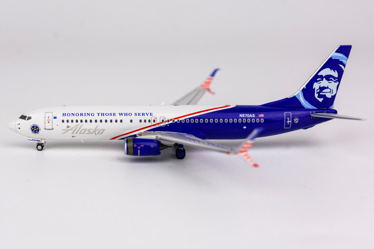 NG Model Alaska Airlines (Honoring Those Who Serve) 737-800/w N570AS 58075 1:400