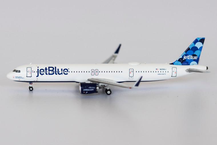 NG Model JetBlue Airways Aruba, Jamaica, Blue I Wanna Take Ya, 2016 A321neo N2016J 13019 1:400