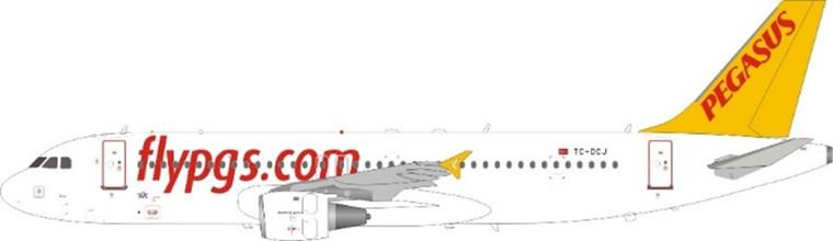 JFox Pegasus Airlines A320-214 TC-DCJ JF-A320-039 1:200