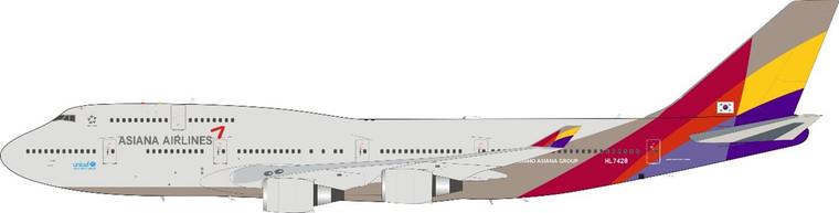 JFox Asiana Airlines B747-48E HL7428 JF-747-4-049 1:200