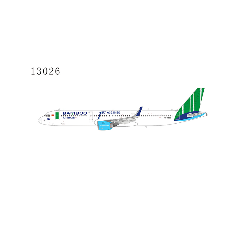 NG Model Bamboo Airways with 1st A321neo sticker A321neo VN-A588 13026 1:400