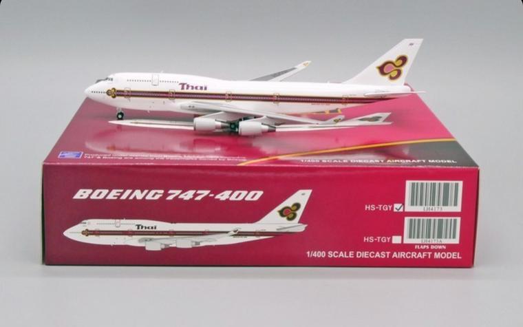 JC Wings THAI AIRWAYS B747-400 (OLD LIVERY) HS-TGY LH4THA173 1:400
