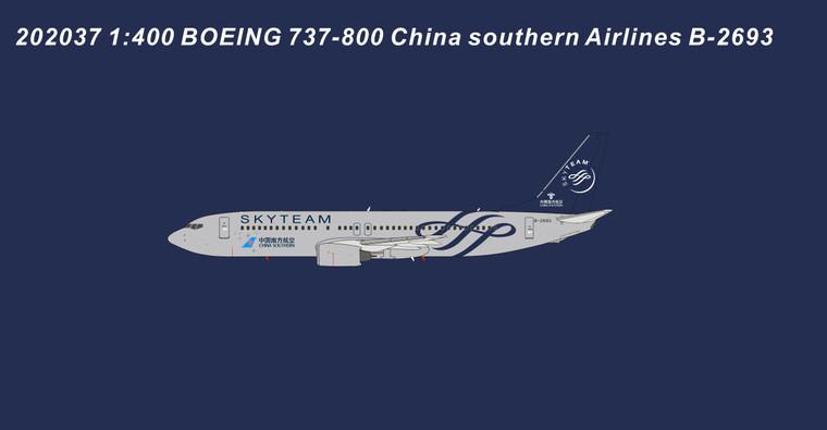 Panda Models China Southern Airlines B737-800 SkyTeam B-2693 202037 1:400