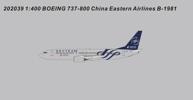 Panda Models China Eastern Airlines B737-800 SkyTeam B-1981 202039 1:400
