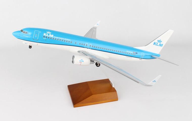 SKYMARKS KLM 737-800 W/WOOD STAND & GEAR NEW LIVERY SKR8251 1:100