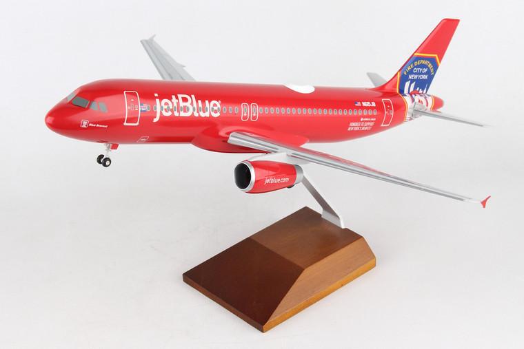 SKYMARKS JETBLUE A320 FDNY W/WOOD STAND & GEAR SKR8360 1:100
