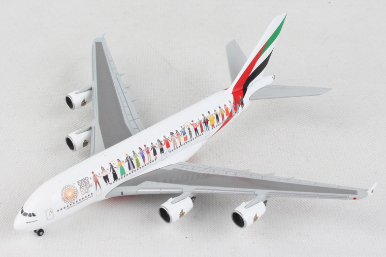 HERPA EMIRATES A380 HE534352 1:500 YEAR OF TOLERANCE