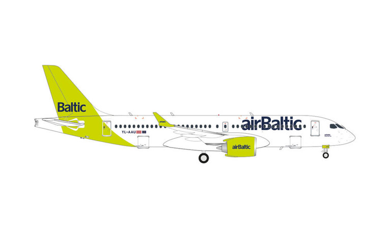 HERPA AIR BALTIC A220-300 HE562751 1:400 100TH A220 NEW LIVERY