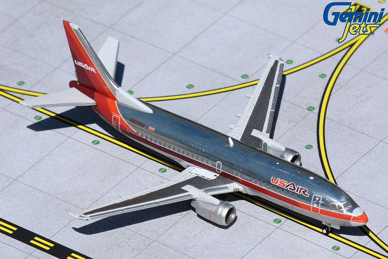 Gemini Jets USAir B737-300 1980s polished livery N523AU GJUSA372 1:400