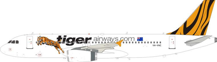 Inflight200 Tigerair Airbus A320-232 VH-VNC IF320TT0721 1:200
