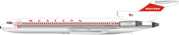 Inflight200 Western Airlines Boeing 727-247 N2801W IF722WA0920P 1:200