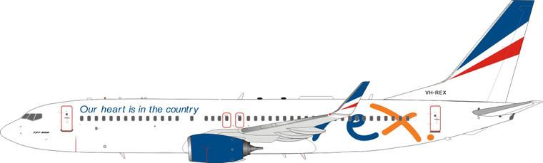 Inflight200 REX - Regional Express Boeing 737-800 VH-REX IF738ZL0621 1:200