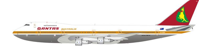 Inflight200 Qantas Boeing 747-200 VH-EBM Polished IF742QF0721P 1:200