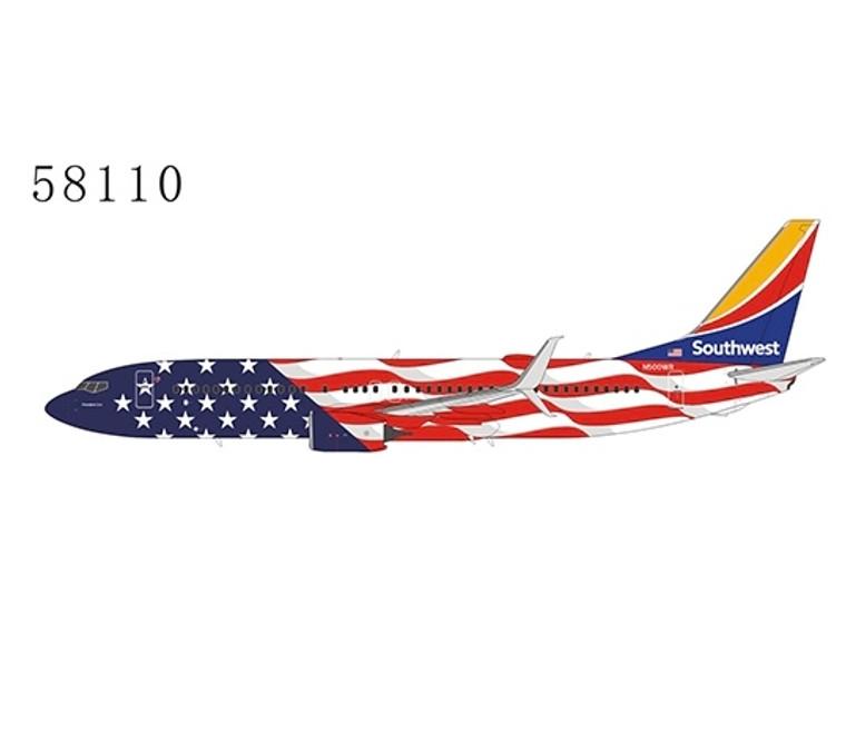 "NG Model Southwest ""Freedom One"" Boeing 737-800 N500WR 1:400"
