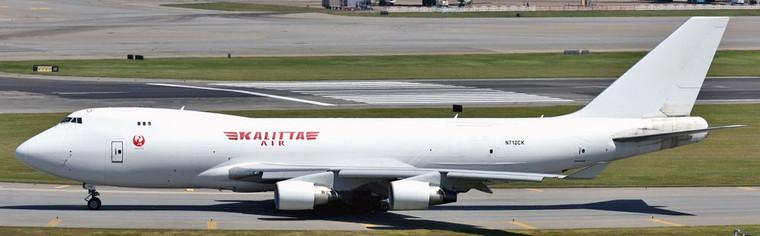 Phoenix Model Kalitta Air (JAL) Boeing 747-400F N712CK PH4CKS2169 1:400