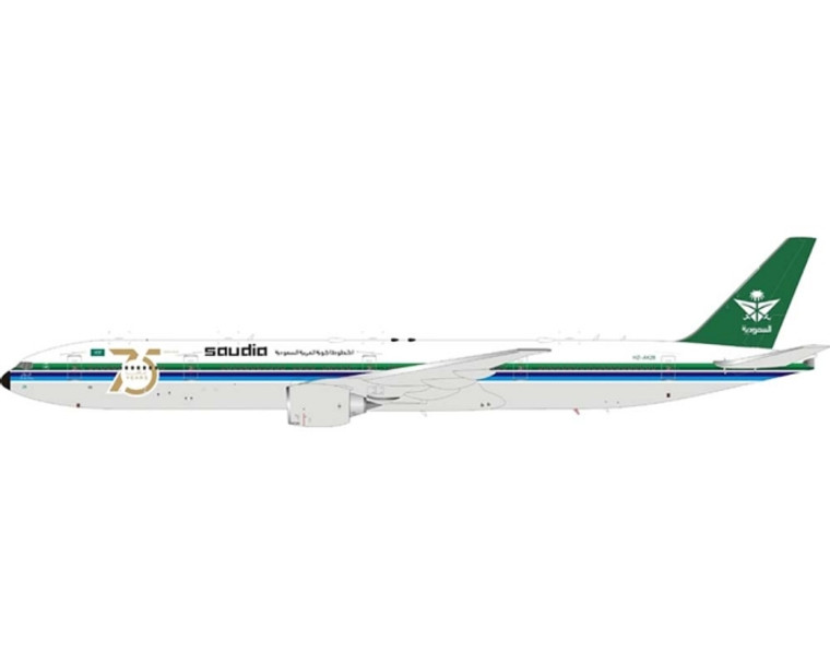 JC Wings Saudi Arabian Airlines B777-300ER HZ-AK28 Retro Livery (Flaps Down) LH4SVA273A 1:400