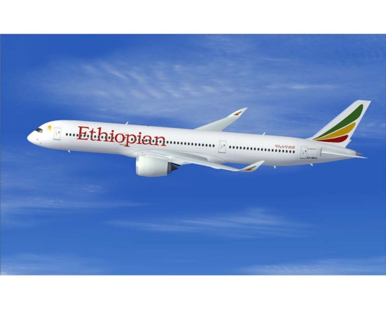 """JC Wings Ethiopian Airlines A350-900 ET-AYN """"Star Alliance Livery"""" LH4ETH275 1:400"""