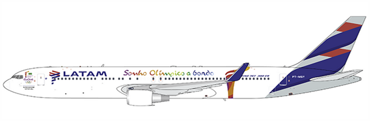 "JC Wings LATAM B767-300ER PT-MSY ""Rio 2016 Livery"" JC4LAN244 1:400"