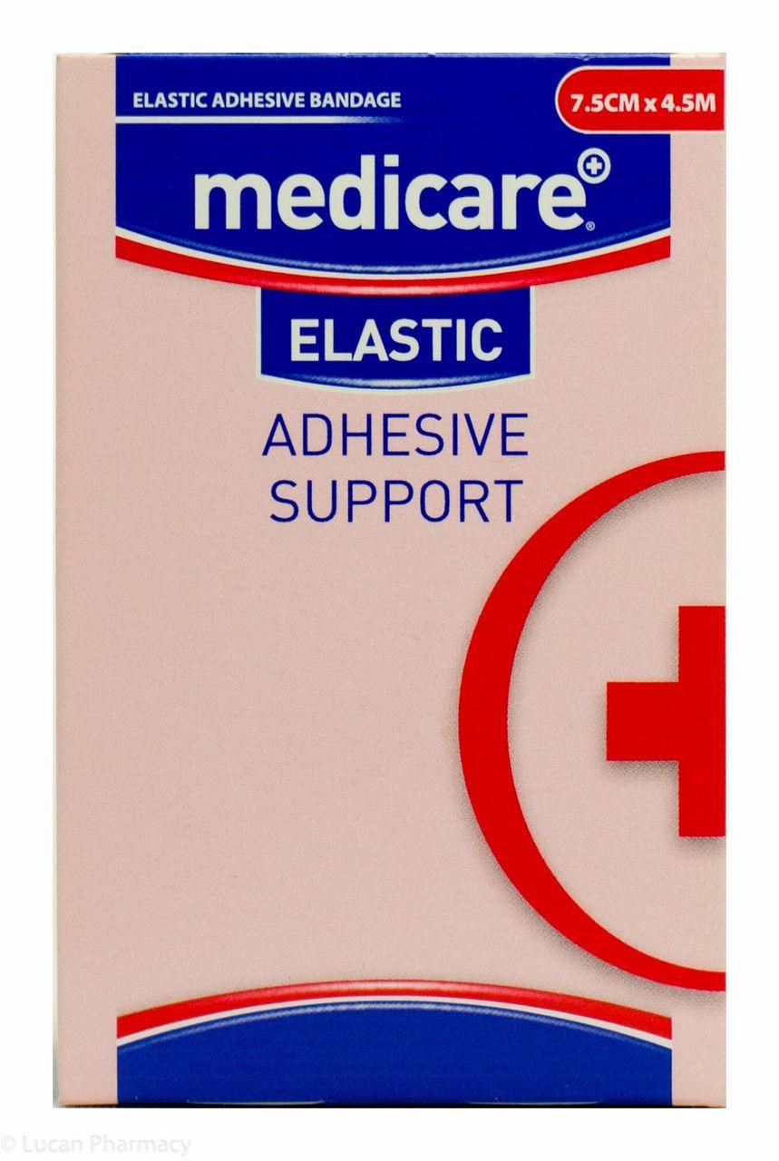 065b91a996 Lucan Pharmacy Medicare+® Elastic Adhesive Bandage Support - 7.5cm x 4.5m