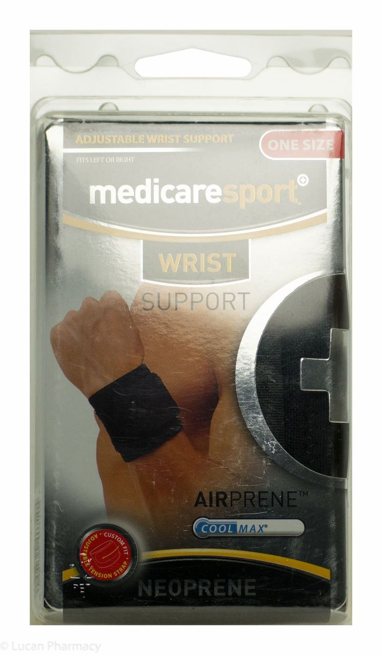 8894cf3713 Lucan Pharmacy MedicareSport+® Adjustable Neoprene Wrist Support - One Size  Fits All