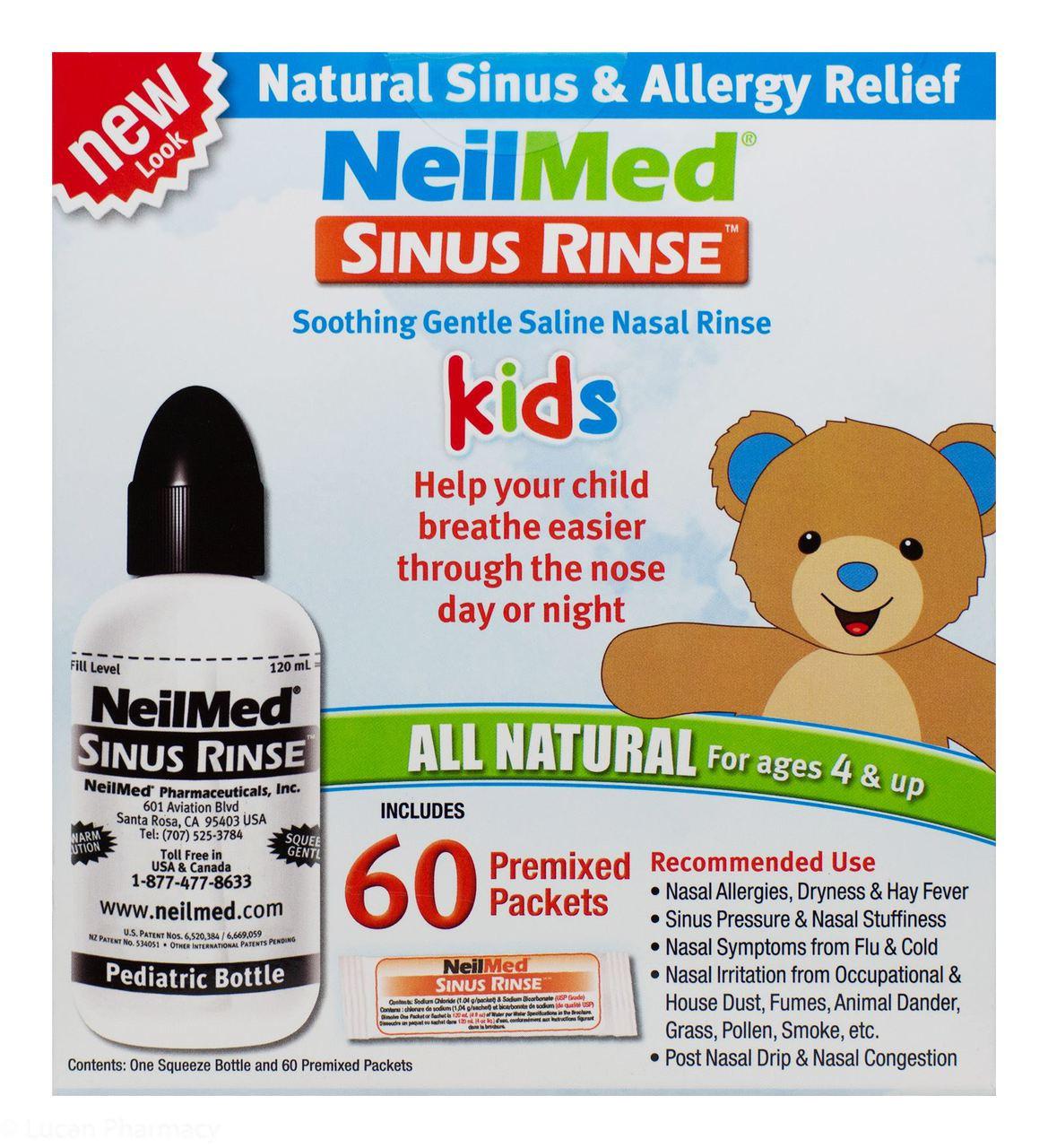 NeilMed® Sinus Rinse Kids Kit - 1 Bottle + 60 Sachets